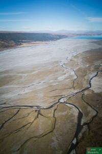 Delta rzeki Tasman wpadającej do jeziora Pukaki