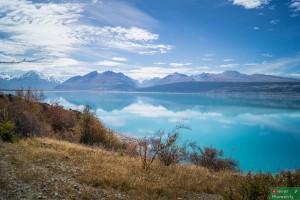 Jezioro Pukaki, nad którym leży Glentanner