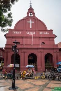 Kościół Jezusa Chrystusa. Dla nas zabawne połączenie: Christchurch, czyli ostatni przystanek w NZ i Melaka, pierwszy w Azji :)
