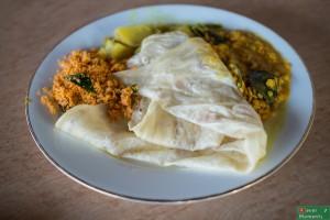 Roti z 3 sosami curry