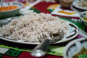 Czerwony ryż gotowany z przyprawami