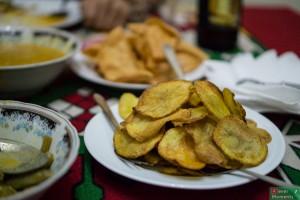 Chipsy ziemniaczane i papadam