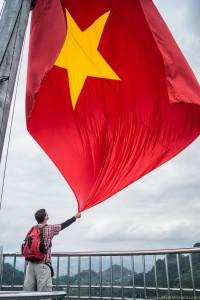 ...i na koniec oczywiście najważniejszy w Wietnamie kolor: nasycony kolor wietnamskiej flagi widoczny z daleka!