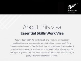 Essential Skills Work Visa Nowa Zelandia