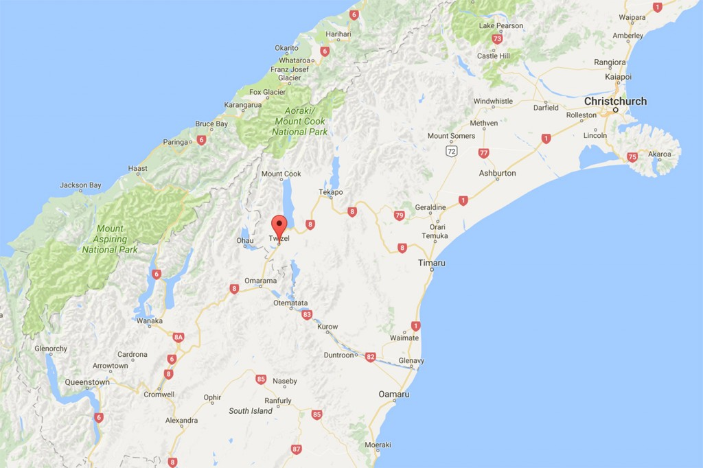 Twizel mapa